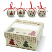 4 pc Xmas bauble set