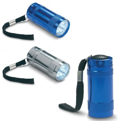 Aluminium torch with lanyard