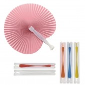 Foldable paper hand fan