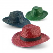 Coloured straw hat
