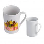 Ceramic coffee mug with a corrugated scum