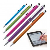 Plastic ball pen with touch