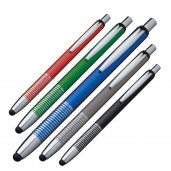 Metal pen with touchpad