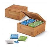 "Tea box with 4 compartments + 40 pcs. Tea ""gorreana"""