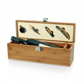Wine set (corkscrew with blade, dispenser with cover and stopper)