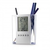 Desk clock pencil