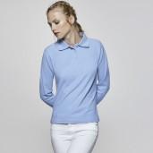 Поло блуза с дълъг ръкав