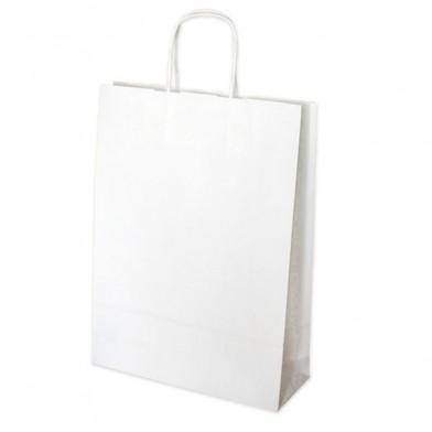 Бяла хартиена чанта