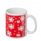 Коледна керамична чаша